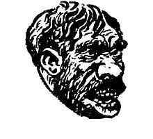 Creepy Caveman Head  Photographic Print
