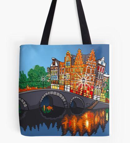 Colorful wonderful Amsterdam Tote Bag