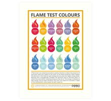 Metal Ion Flame Test Colours Art Print