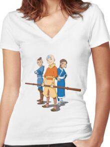 Team Avatar Cool Women's Fitted V-Neck T-Shirt
