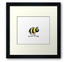 Cute Bee Graphic Design Framed Print