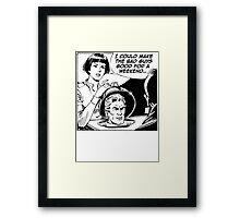 Blank Space v.1  Framed Print