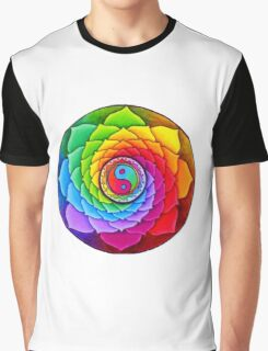 Intriguing Flower Ying Yang Art! Graphic T-Shirt