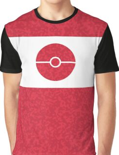 Pokemon CAMO Red Graphic T-Shirt