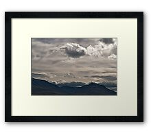Clouds rolling over Framed Print