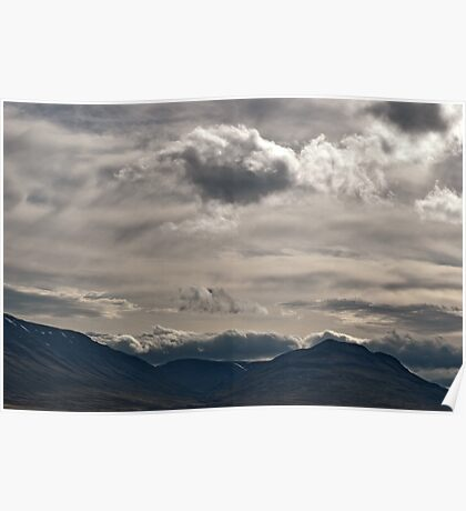 Clouds rolling over Poster