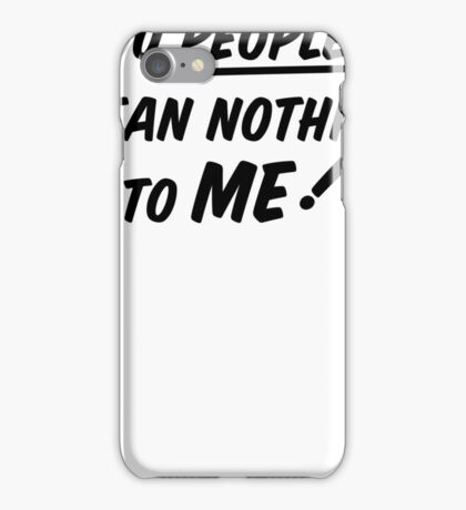 YOU PEOPLE (black text)  iPhone Case/Skin