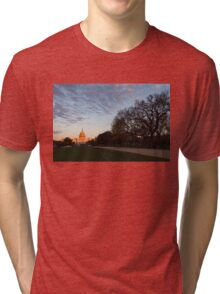 Soft Orange Glow - US Capitol and the National Mall at Sunset Tri-blend T-Shirt