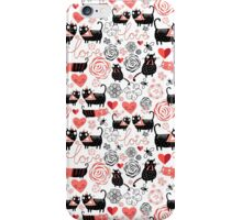 Graphic pattern of funny cats lovers iPhone Case/Skin