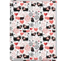 Graphic pattern of funny cats lovers iPad Case/Skin