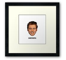 What would Snedders do? Framed Print