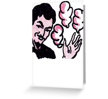 smoking fingers  Greeting Card