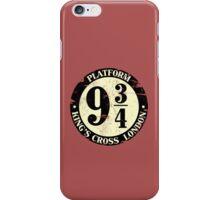harry potter platform 9 3/4 iPhone Case/Skin