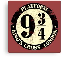 harry potter platform 9 3/4 Canvas Print