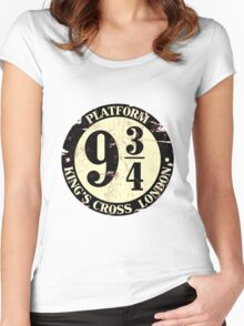 harry potter platform 9 3/4 Women's Fitted Scoop T-Shirt