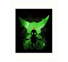 Ratchet & Clank Galaxy (Green Version) Art Print