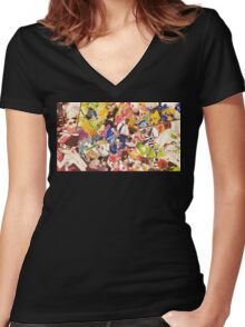 Splatoon - Time for Fun Women's Fitted V-Neck T-Shirt