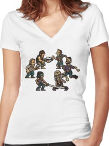 The Slugging Dead Women's Fitted V-Neck T-Shirt