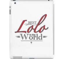 Best Lolo in the World iPad Case/Skin