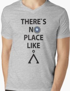 There`s no place like Earth(Tau'ri) - Stargate Mens V-Neck T-Shirt