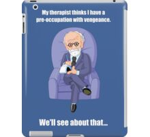 Preoccupation with Vengeance - light text iPad Case/Skin