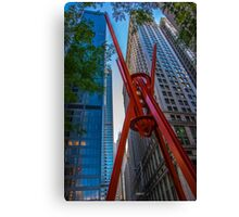 Street Sculpture Downtown Manhattan New York Canvas Print