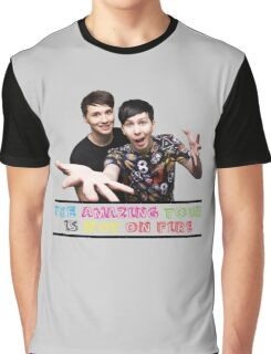 The Amazing Tour is Not On Fire - Dan and Phil Graphic T-Shirt