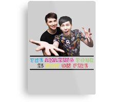 The Amazing Tour is Not On Fire - Dan and Phil Metal Print