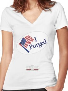 The Purge: Election Year Women's Fitted V-Neck T-Shirt