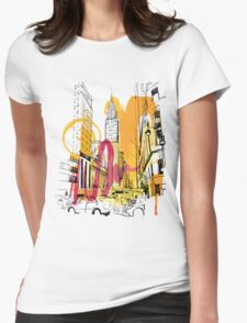 BUILDING Womens Fitted T-Shirt