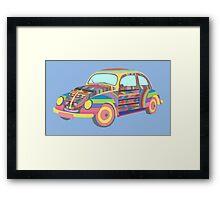 Beetle - Coloured Framed Print