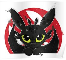 How To Train Your Dragon, Toothless cute pocket Poster