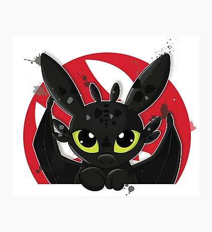 How To Train Your Dragon, Toothless cute pocket Photographic Print