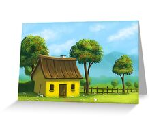 Peaceful yellow house Greeting Card