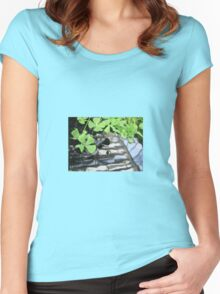 Green Leaves in Water Women's Fitted Scoop T-Shirt