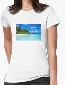 Honeymoon in the Maldives Womens Fitted T-Shirt