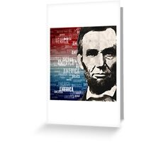 Patriot Abraham Lincoln Greeting Card
