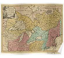 American Revolutionary War Era Maps 1750-1786 302 An Accurate map of the present seat of war between Great Britain and her colonies in North America Poster