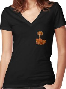 Oranges and Lemons Women's Fitted V-Neck T-Shirt