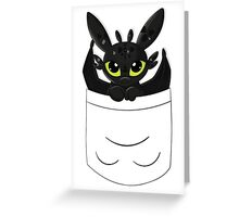 How To Train Your Dragon, Toothless cute pocket Greeting Card