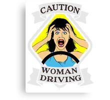 Funny traffic signal woman driving  Canvas Print