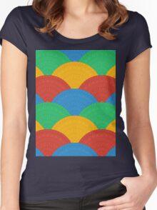 Fan Greek patterns, Meander Women's Fitted Scoop T-Shirt
