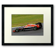 Jules Bianchi - Manor Marussia - Silverstone 2014 Framed Print