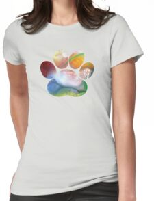 Dog Paw Art Womens Fitted T-Shirt