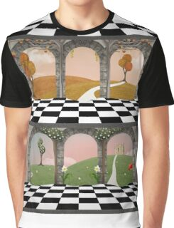 Spring and autumn building Graphic T-Shirt