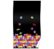 autism puzzle pieces Poster
