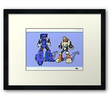 Transformers Pipes and Hubcap Framed Print