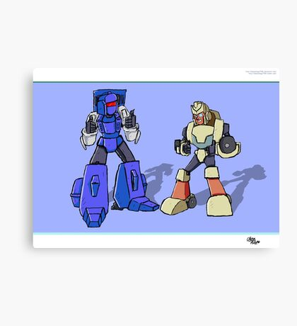 Transformers Pipes and Hubcap Canvas Print