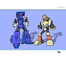 Transformers Pipes and Hubcap Photographic Print