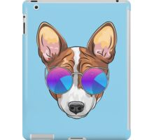 Hipster smiling dog Basenji  iPad Case/Skin